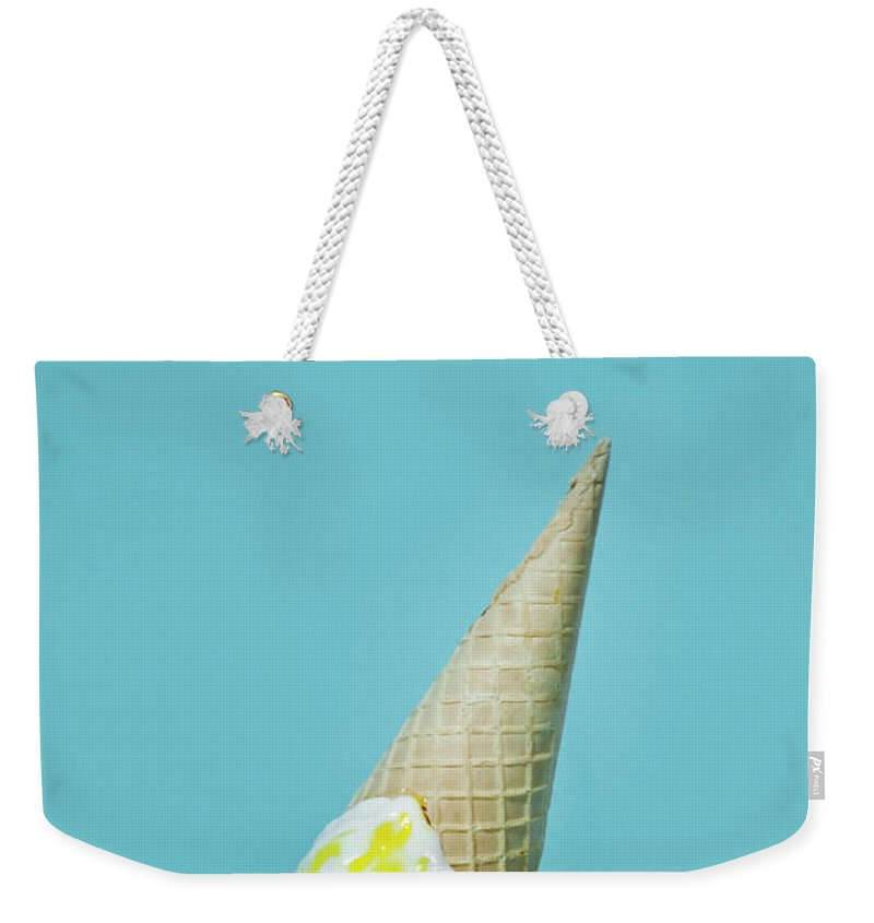 Melting Weekender Tote Bag featuring the photograph Ice Cream by All Kind Of Things In Photo