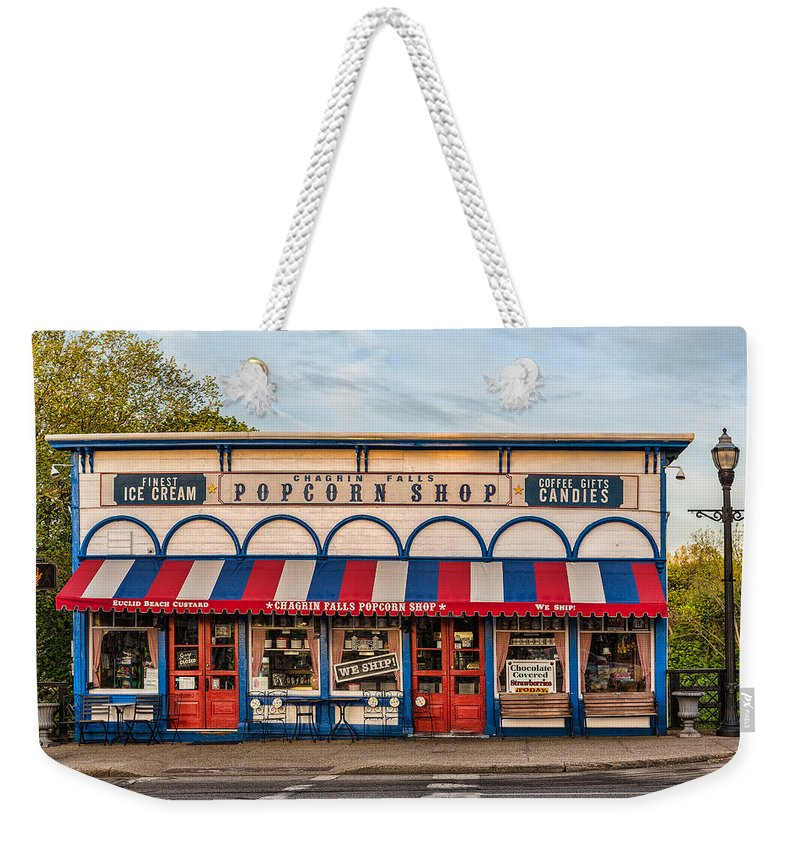 Popcorn Shop Weekender Tote Bag featuring the photograph Ice Cream And Popcorn by Dale Kincaid
