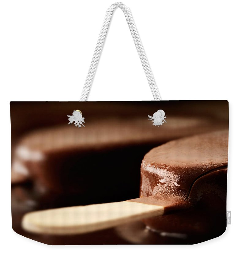 Ice Weekender Tote Bag featuring the photograph Ice Cream Chocolate Bar by Johan Swanepoel