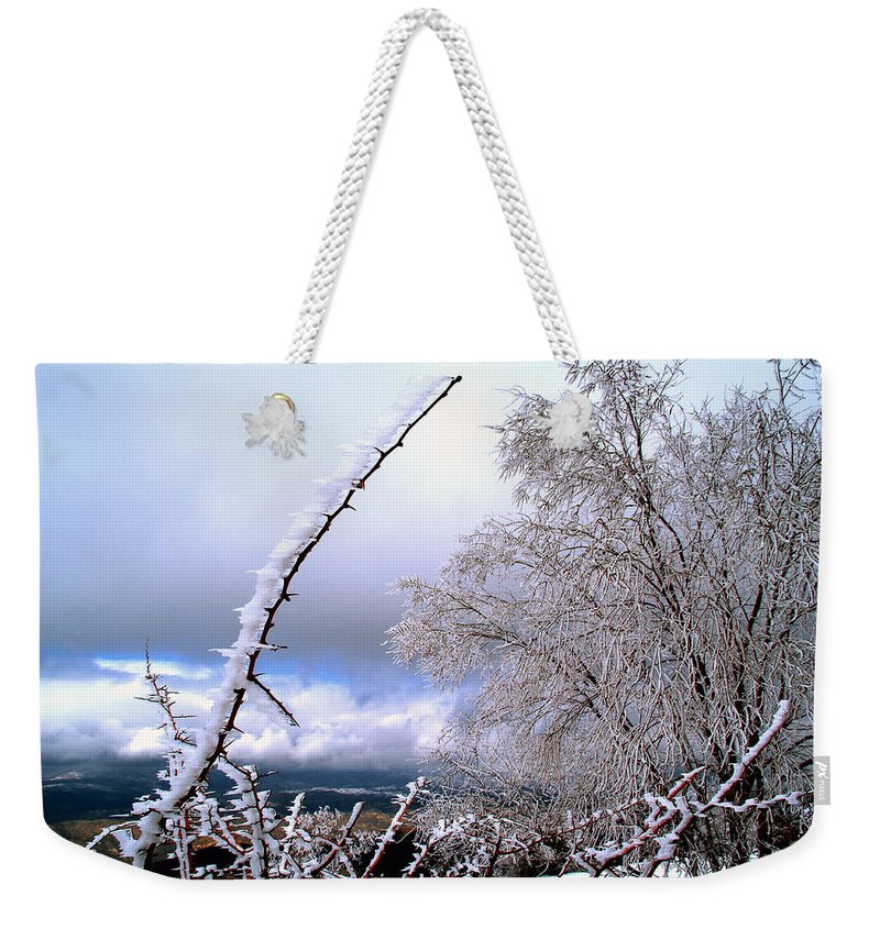 National Park Weekender Tote Bag featuring the photograph Ice by Guido Montanes Castillo