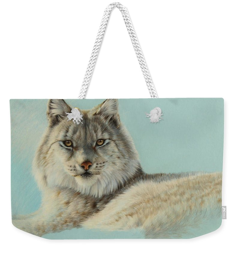 Wildlife Weekender Tote Bag featuring the drawing Ice Princess by Clare Shaughnessy