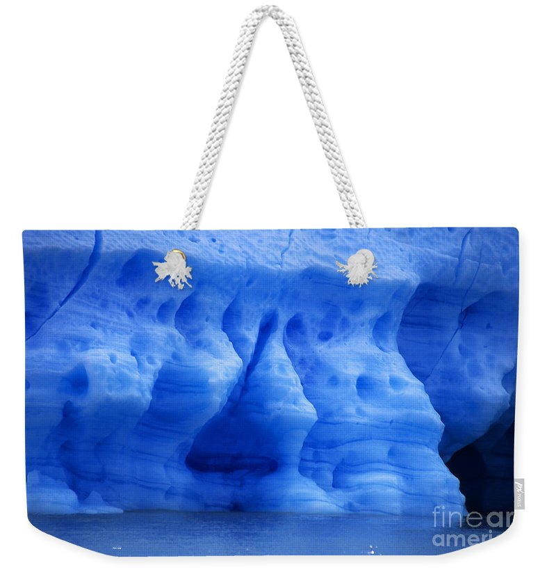 Glacier Weekender Tote Bag featuring the photograph Ice Sculpture by James Brunker