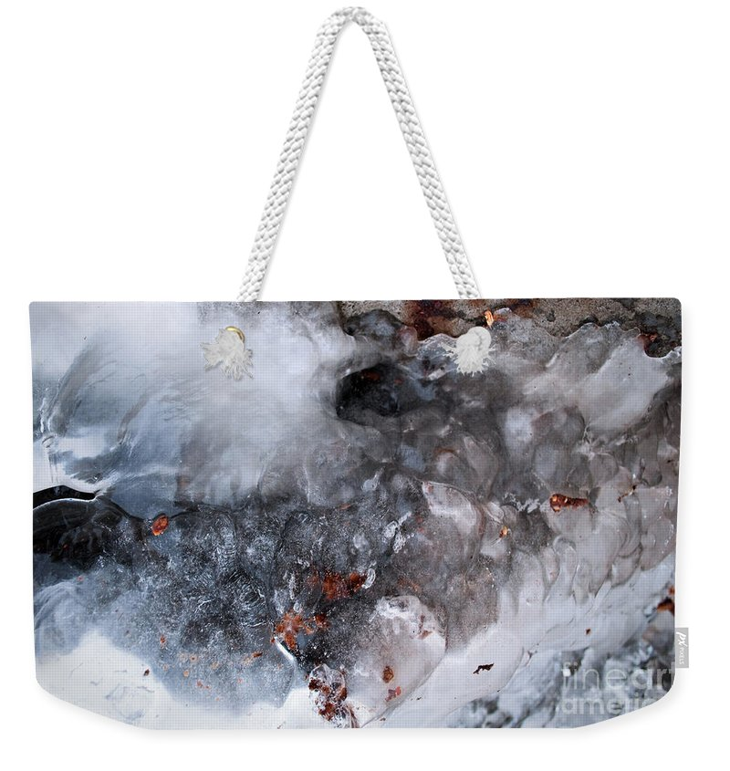 Ice Weekender Tote Bag featuring the photograph Ice Transformation Vii by Gwyn Newcombe