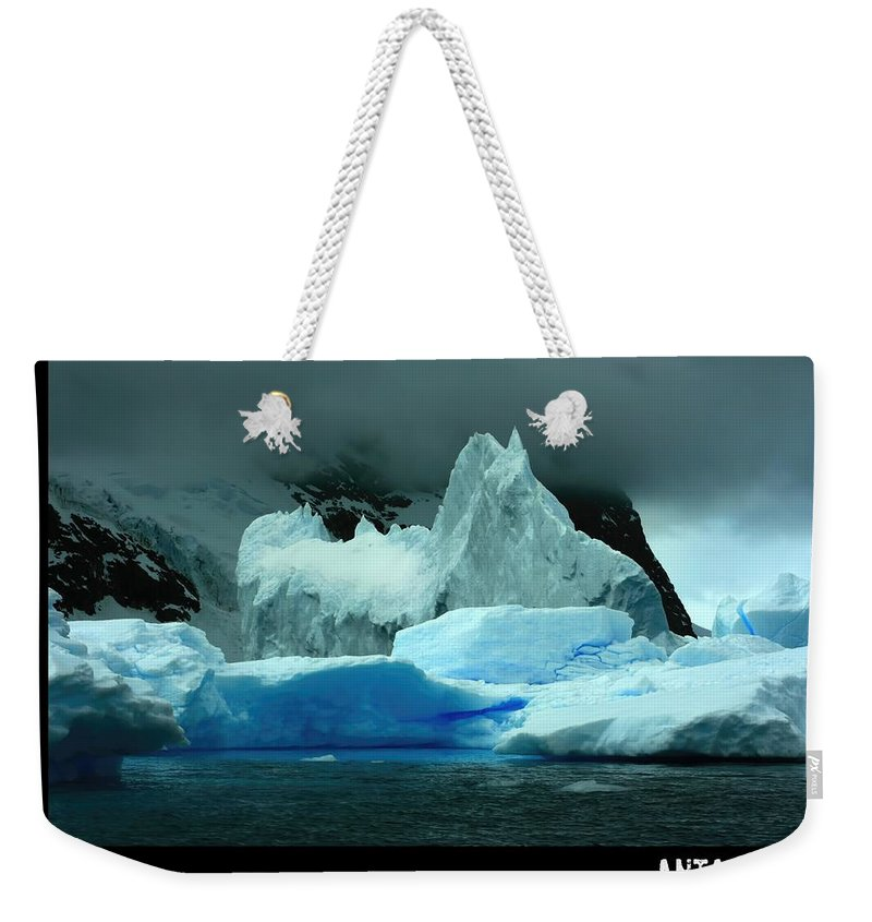 Iceberg Weekender Tote Bag featuring the photograph Ice With That by Amanda Stadther