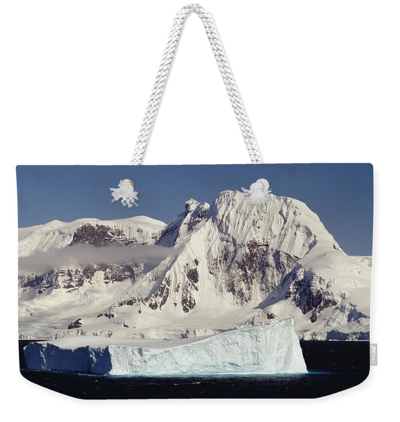 Feb0514 Weekender Tote Bag featuring the photograph Icebergs Northern Tip Of The Antarctic by Gerry Ellis