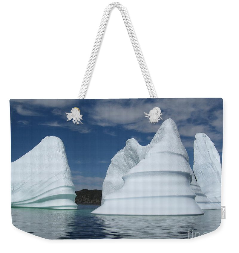 Iceberg Newfoundland Weekender Tote Bag featuring the photograph Icebergs by Seon-Jeong Kim