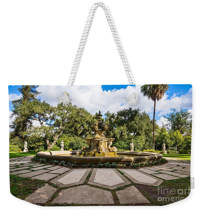 Rge Fountain Weekender Tote Bag featuring the photograph Iconic Fountain by Jamie Pham