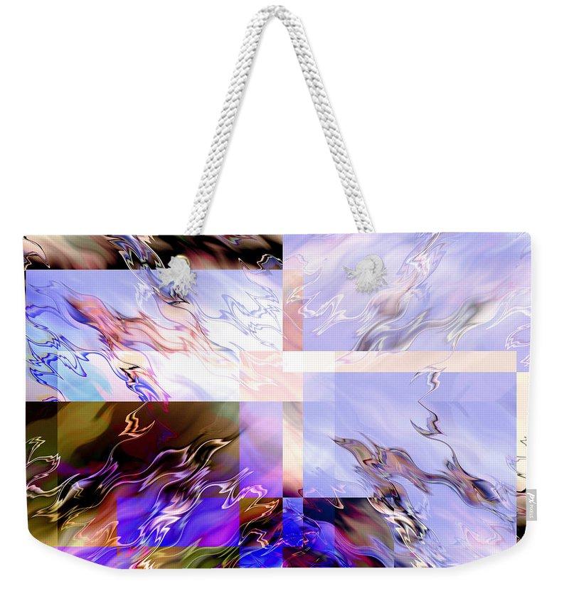 Artmatic Weekender Tote Bag featuring the digital art Icy Flames by Hakon Soreide