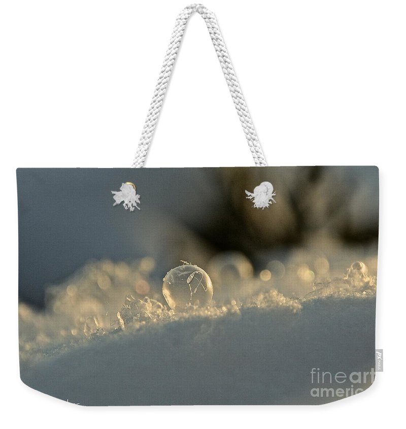 Outdoors Weekender Tote Bag featuring the photograph Icy Marbel by Susan Herber