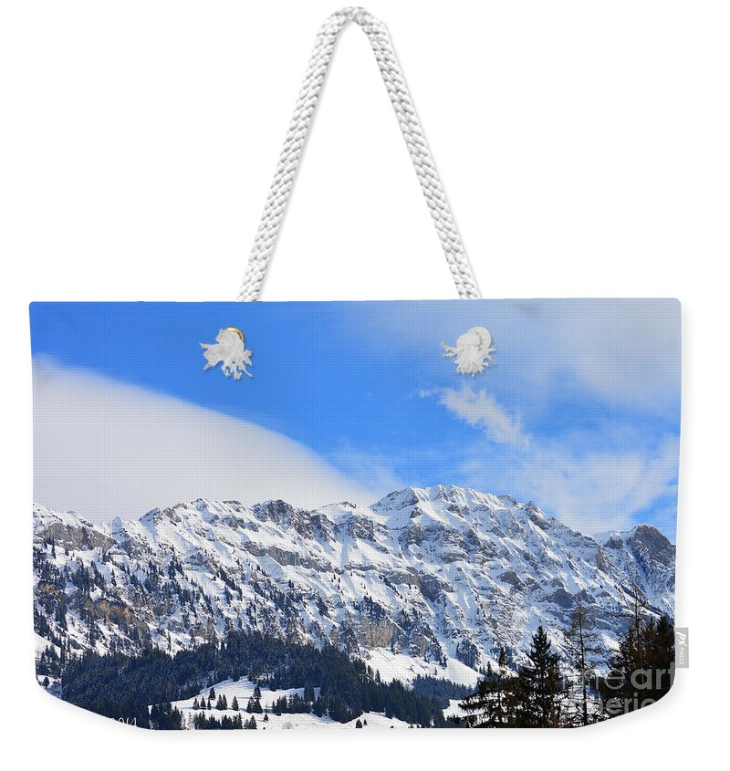 Alps Weekender Tote Bag featuring the photograph Icy Profile by Felicia Tica