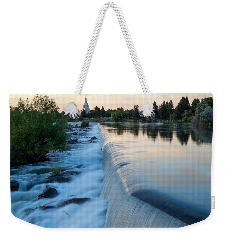 Idaho Falls Weekender Tote Bag featuring the photograph Idaho Falls Sunset by John Daly