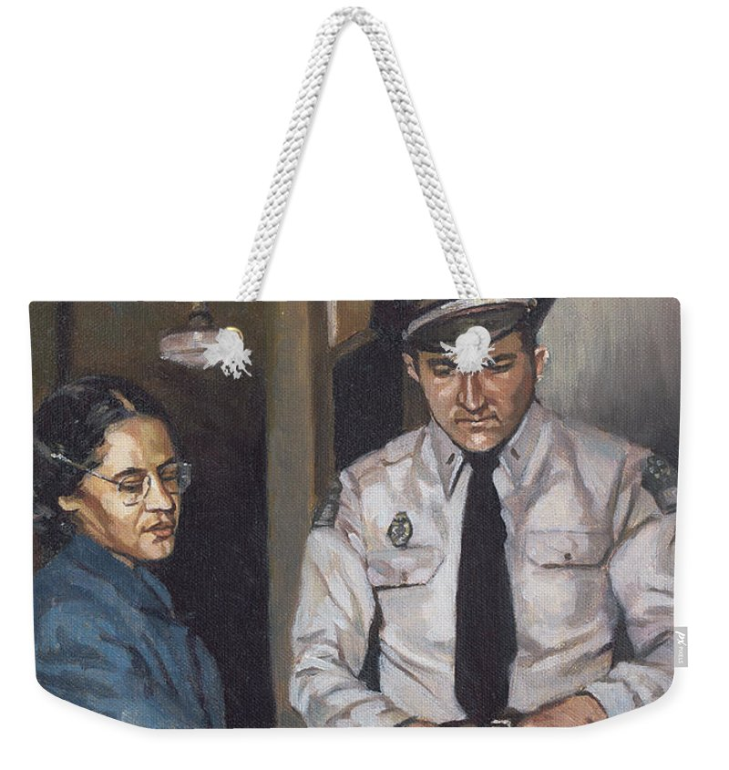 Bus Weekender Tote Bag featuring the painting Identification Rosa by Colin Bootman