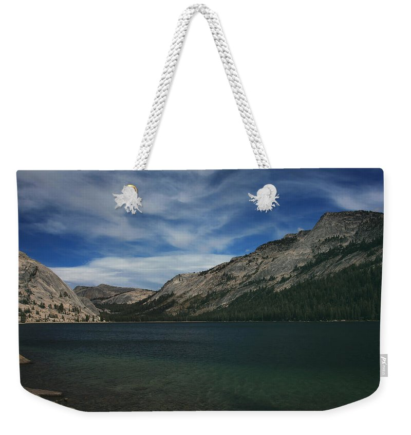 Tenaya Lake Weekender Tote Bag featuring the photograph If I Spent Forever Here by Laurie Search
