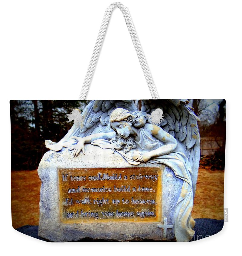 Cemetary Weekender Tote Bag featuring the photograph If Tears Could Build A Stairway by Ed Weidman