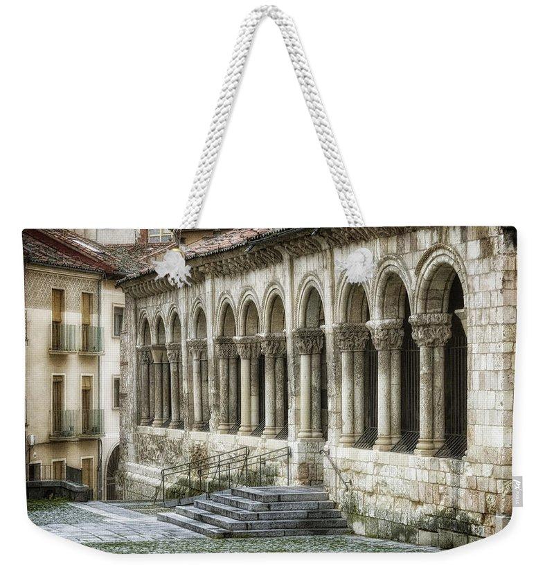 Ancient Weekender Tote Bag featuring the photograph Iglesia De San Millan by Joan Carroll