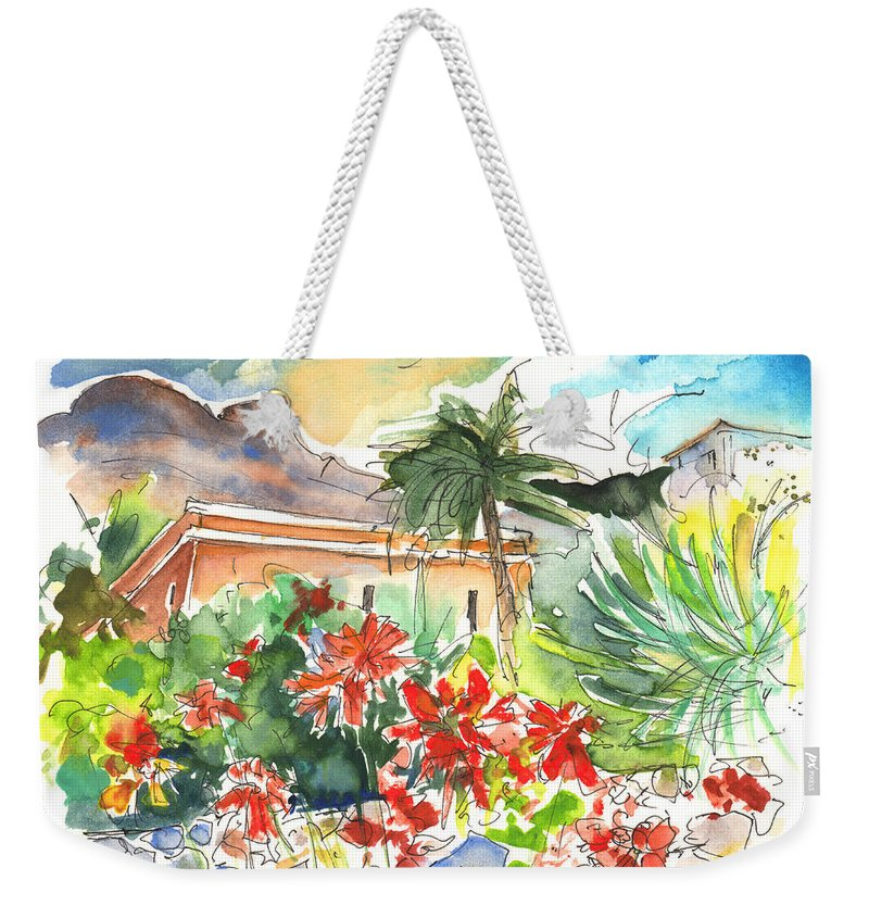 Travel Weekender Tote Bag featuring the painting Igueste De San Andres 03 by Miki De Goodaboom