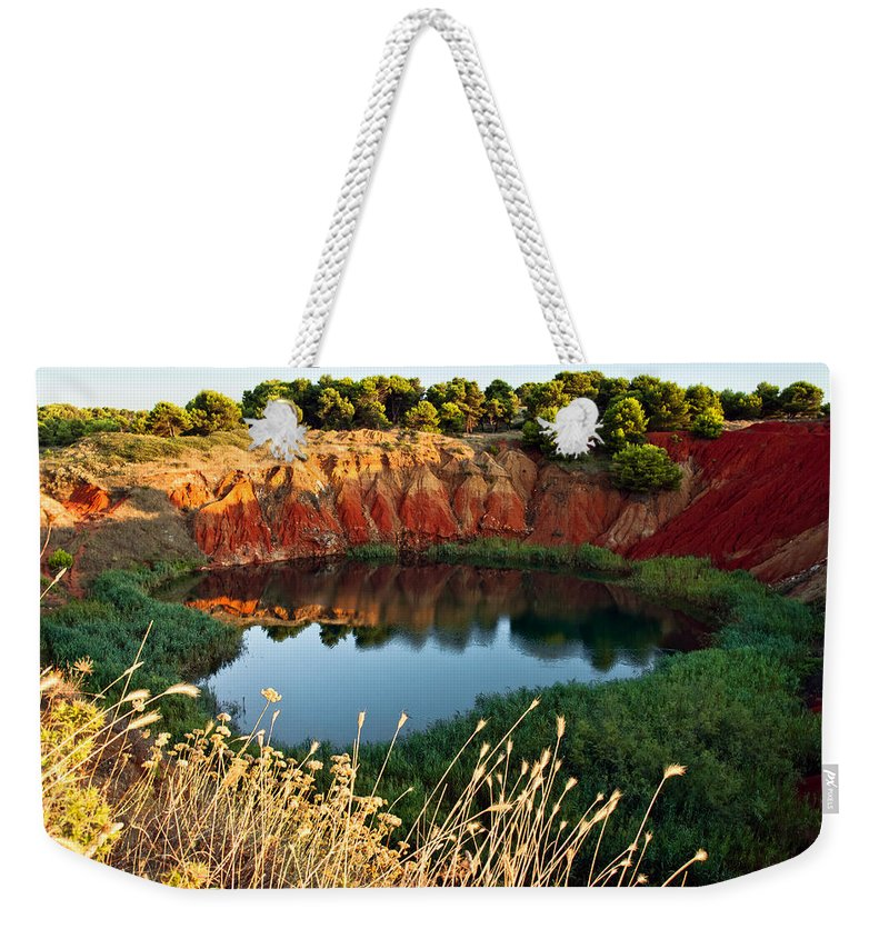 Scenics Weekender Tote Bag featuring the photograph Il Lago Di Bauxite by Rossana Coviello