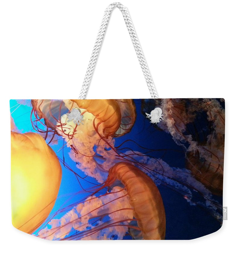 Underwater Weekender Tote Bag featuring the photograph I'll Take Jelly With That by Caryl J Bohn