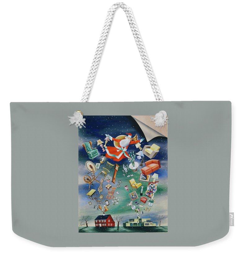 Illustration Of Santa Claus Weekender Tote Bag