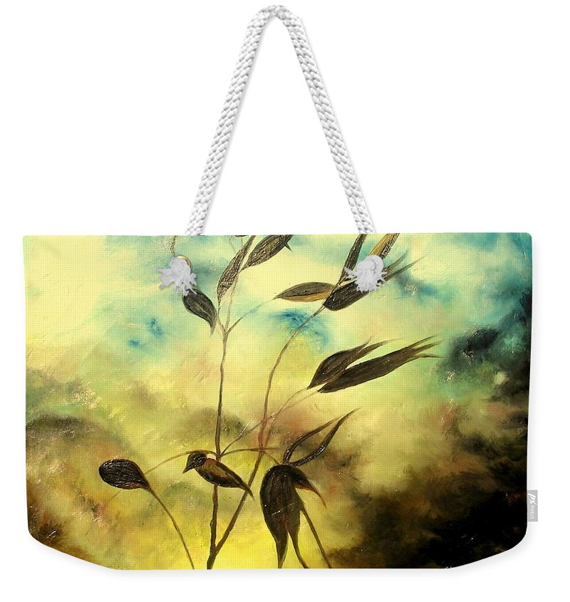 Ilusion Weekender Tote Bag featuring the painting Ilusion by Sorin Apostolescu