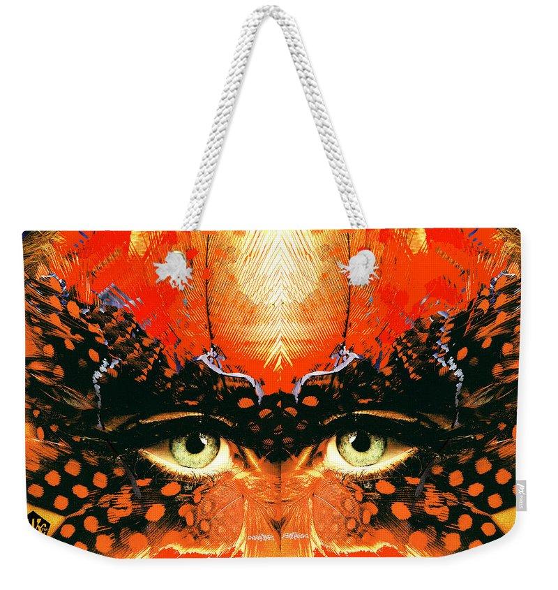 I'm Looking Through You Weekender Tote Bag featuring the digital art I'm Looking Through You by Seth Weaver