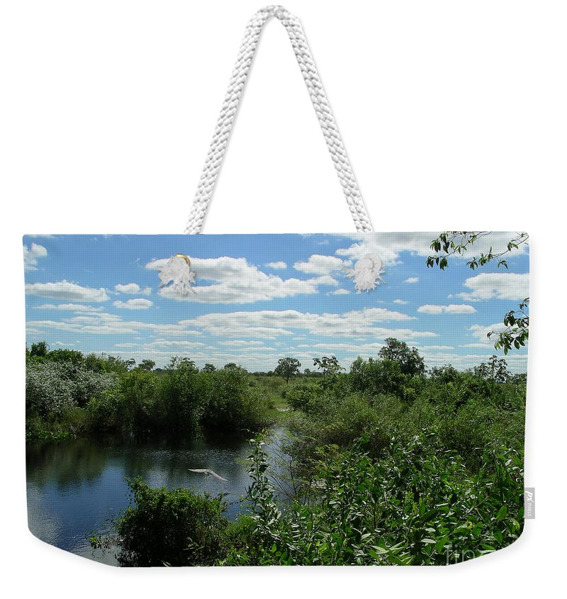 Brazil Weekender Tote Bag featuring the digital art Images Of The Pantanal by Carol Ailles