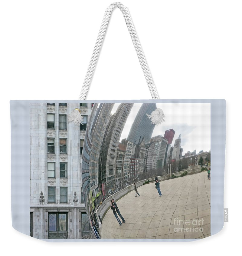 Chicago Weekender Tote Bag featuring the photograph Imaging Chicago by Ann Horn