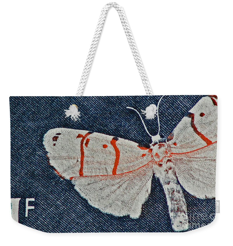 Butterfly Weekender Tote Bag featuring the photograph Imago by Andy Prendy