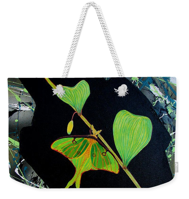 Abstract Weekender Tote Bag featuring the painting Imperfect III by Micah Guenther