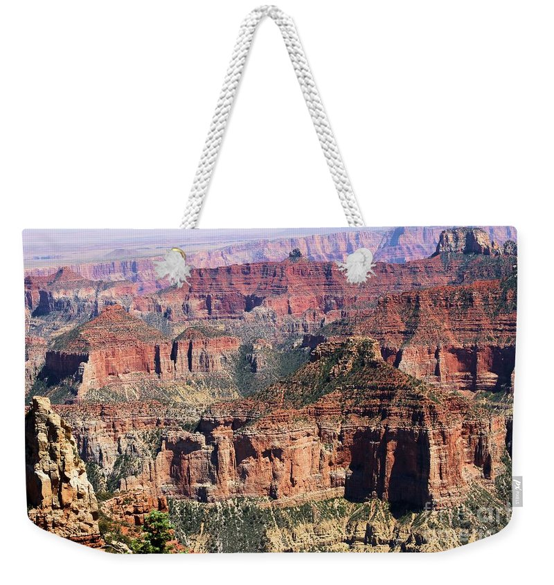 Point Imperial Weekender Tote Bag featuring the photograph Imperial Towers by Adam Jewell