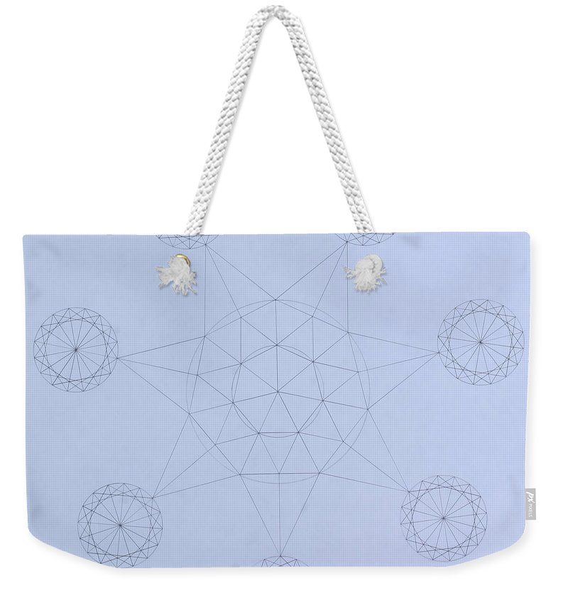 Jason Padgett Weekender Tote Bag featuring the drawing Impossible Parallels by Jason Padgett