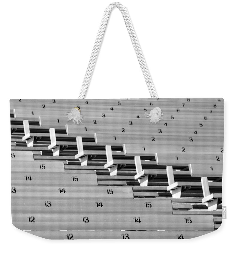Stadium Weekender Tote Bag featuring the photograph In An Orderly Fashion by Joe Kozlowski