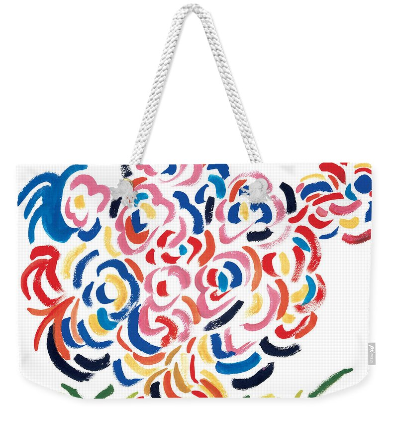 The Man Weekender Tote Bag featuring the painting In Charge by Bjorn Sjogren