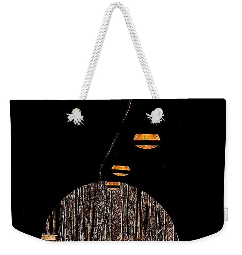 Tunnel Weekender Tote Bag featuring the photograph In Deep Thought by Frozen in Time Fine Art Photography