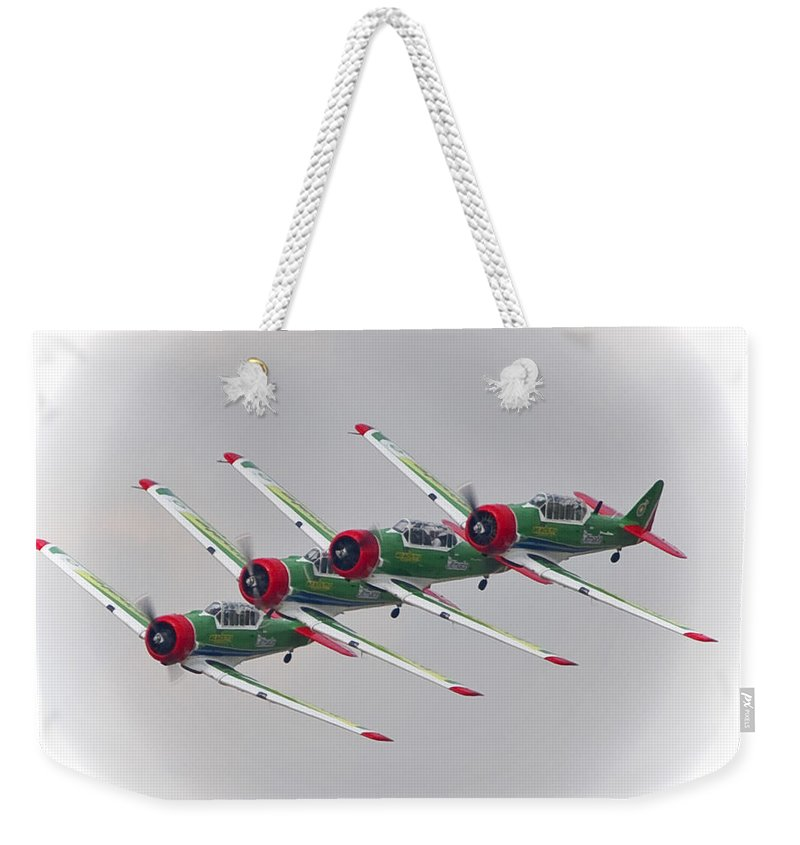 Formation Flying Weekender Tote Bag featuring the photograph In Formation by Paul Job