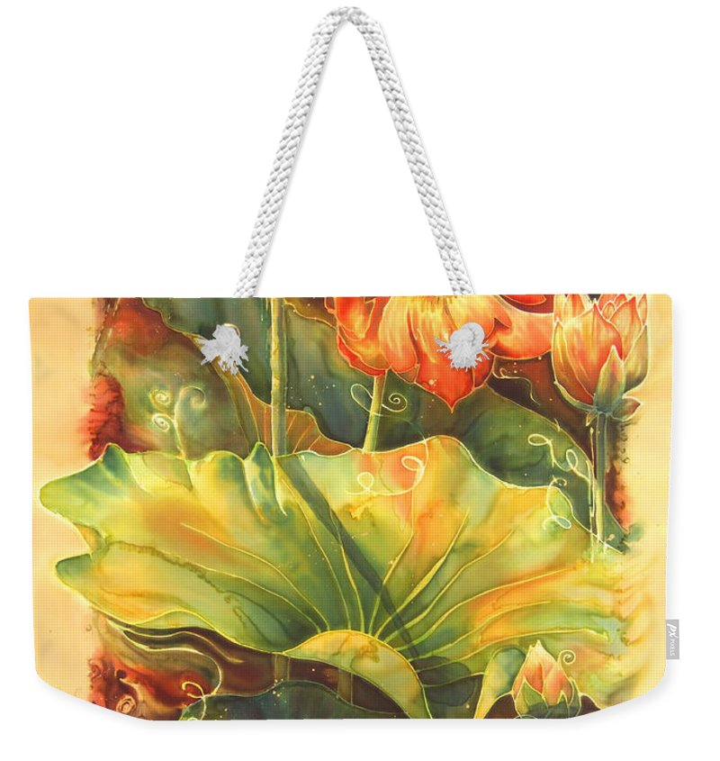 Flower Weekender Tote Bag featuring the painting In Full Bloom by Deborah Younglao