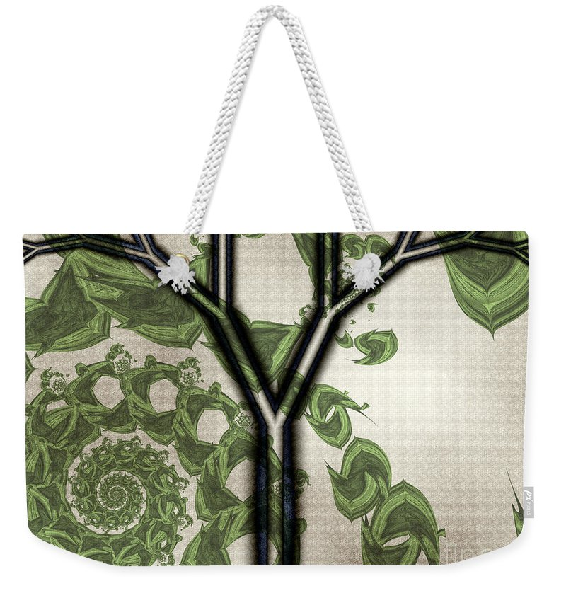 In Like A Lion Weekender Tote Bag featuring the digital art In Like A Lion by Kimberly Hansen