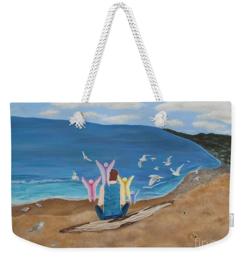 Water Weekender Tote Bag featuring the painting In Meditation by Cheryl Bailey