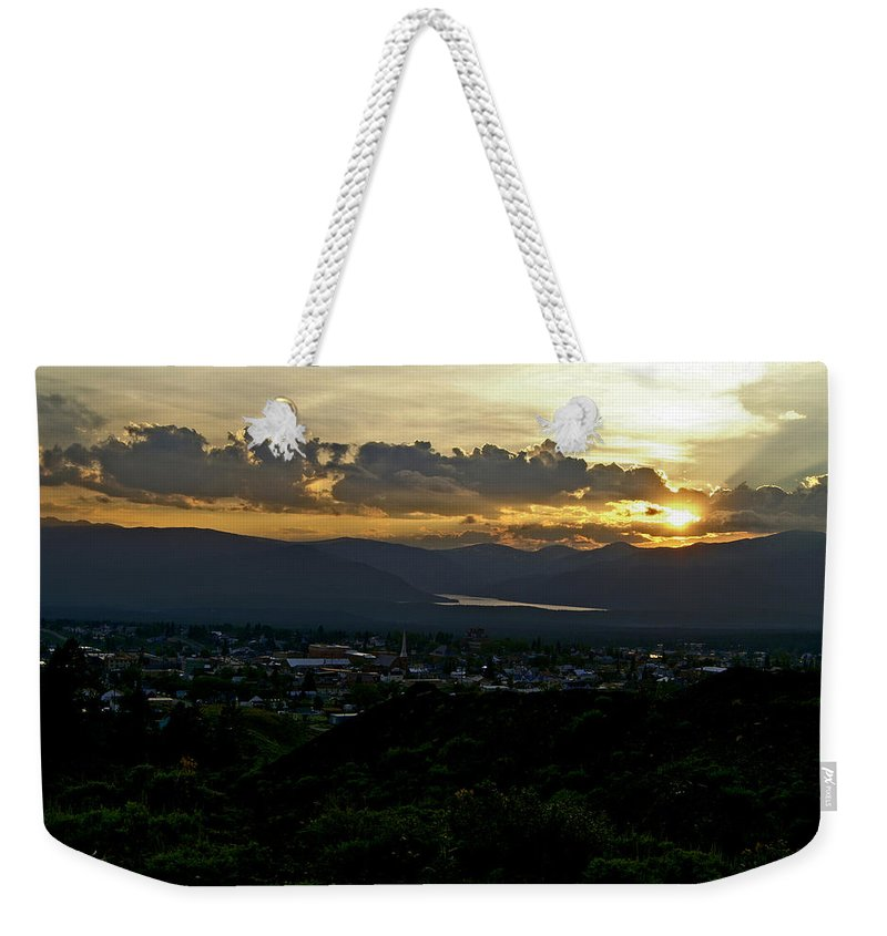 Sunset Weekender Tote Bag featuring the photograph In My Place by Jeremy Rhoades