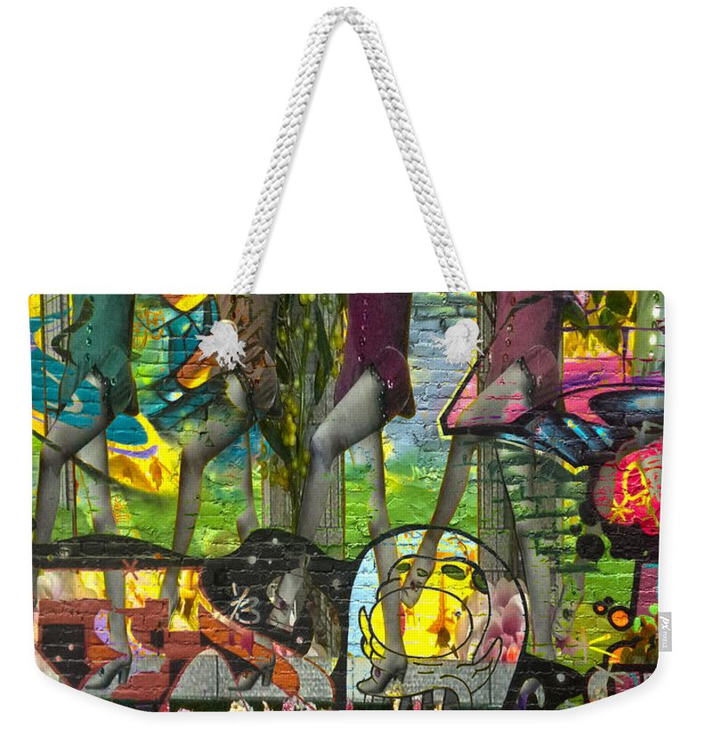 Abstract Weekender Tote Bag featuring the photograph In One Way Out The Other by The Artist Project