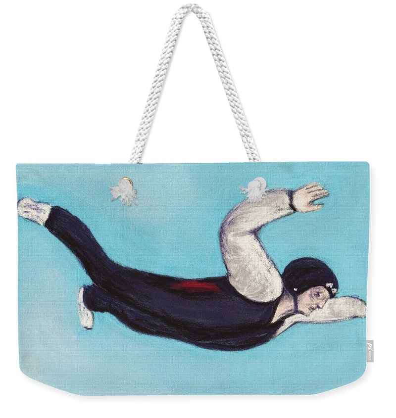 Position Weekender Tote Bag featuring the pastel In The Air by Anastasiya Malakhova
