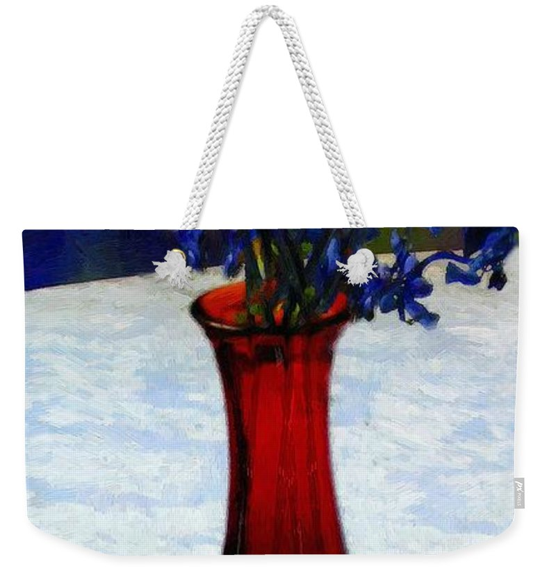 Still Life Weekender Tote Bag featuring the painting In The Blue Hour by RC DeWinter
