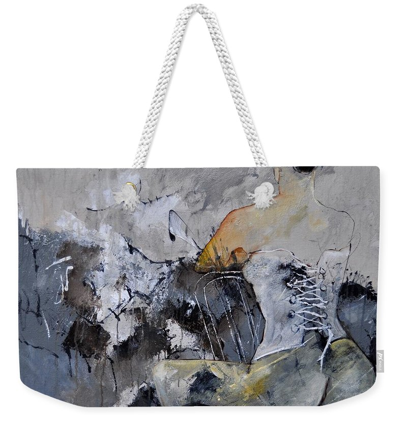 Nude Weekender Tote Bag featuring the painting In The Boudoir 8831 by Pol Ledent
