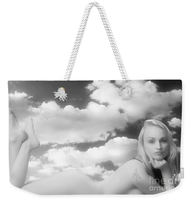 Nude Woman Weekender Tote Bag featuring the photograph In The Cloud 1082 .01 by Kendree Miller