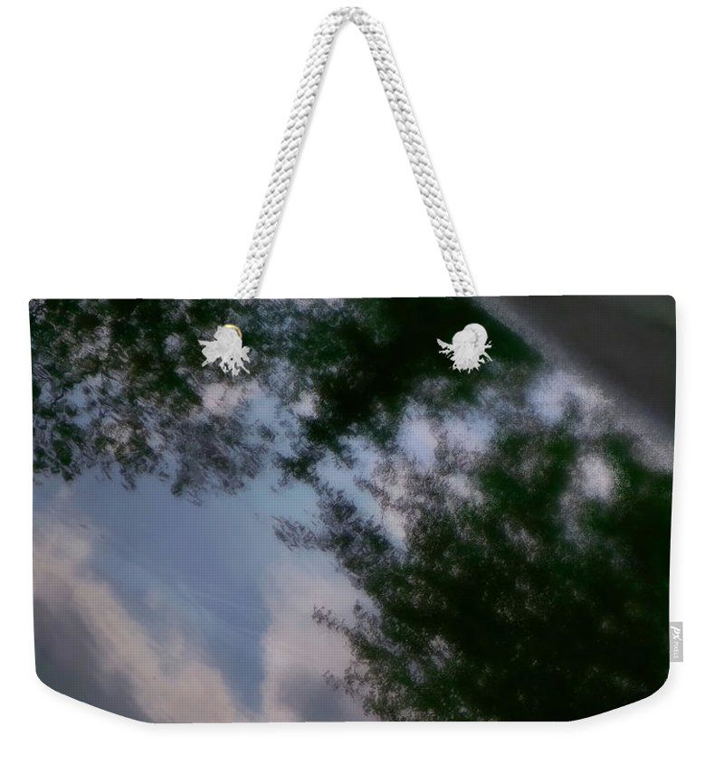 Clouds Weekender Tote Bag featuring the photograph In The Clouds by Kathleen Odenthal