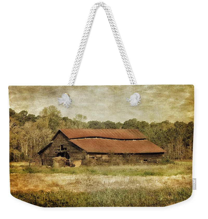 Barn Weekender Tote Bag featuring the photograph In The Country by Kim Hojnacki