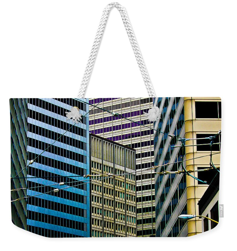 Streets Of San Francisco Weekender Tote Bag featuring the photograph In The District by Digital Kulprits