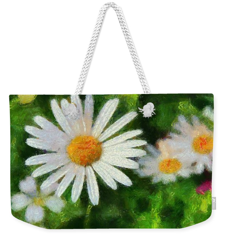 Spring Flowers Weekender Tote Bag featuring the painting In The Garden by Dan Sproul