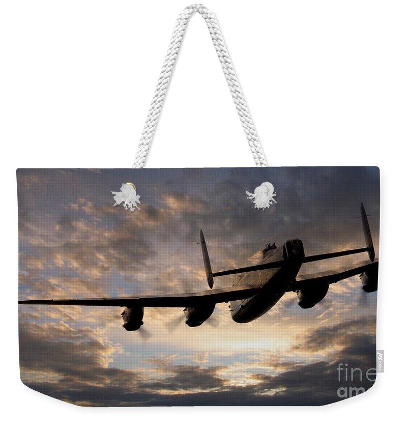 Lancaster Bomber Weekender Tote Bag featuring the digital art In The Heavens by J Biggadike