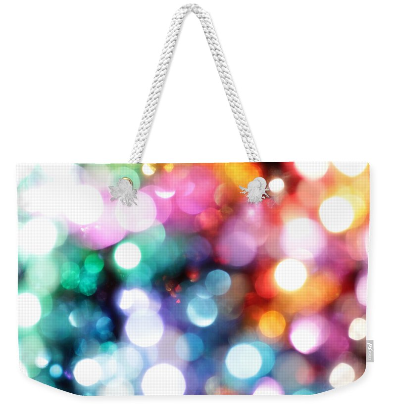 Abstract Weekender Tote Bag featuring the photograph In The Light by Dazzle Zazz